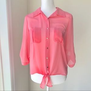 Forever 21 Pink Sheer Blouse